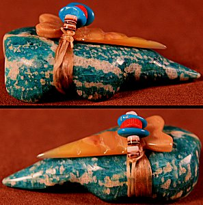 Leland Boone    Amazonite    Mole    Price: $48. +  $8.50  domestic shipping   Texas sales tax applies to Texas Residents!   CLICK  IMAGE for more views & information.   Authentic Zuni fetishes direct from Zuni Pueblo to YOU from Zunispirits.com!
