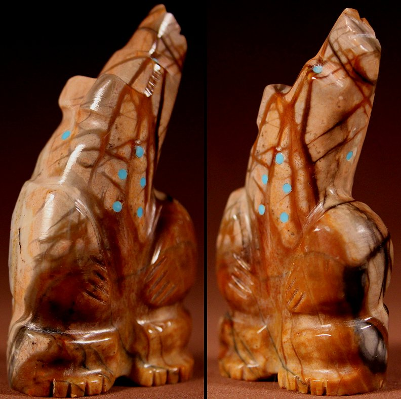 Zuni Spirits is proud to represent a variety of Zuni fetish carvers, including Bennie Bacy !
