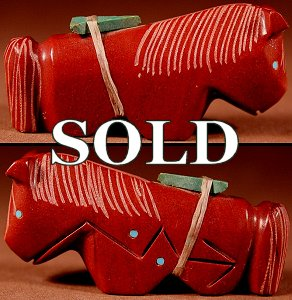 Emery Boone |  Pipestone  | Horse  | Price: $54. +  $9.25  domestic shipping | Texas sales tax applies to Texas Residents! | CLICK  IMAGE for more views & information. | Authentic Zuni fetishes direct from Zuni Pueblo to YOU from Zunispirits.com!