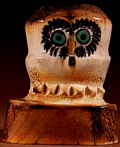 Craig Haloo  | Antler  | Owl  | Price: $48. +  $8.50  domestic shipping | Texas sales tax applies to Texas Residents! | CLICK  IMAGE for more views & information. | Authentic Zuni fetishes direct from Zuni Pueblo to YOU from Zunispirits.com!
