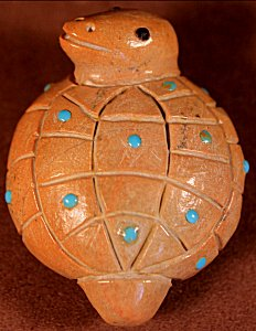 Hayes Leekya | Zuni Rock | Inlaid Turtle  | Price: $54. +  $9.25  domestic shipping | Texas sales tax applies to Texas Residents! | CLICK  IMAGE for more views & information. | Authentic Zuni fetishes direct from Zuni Pueblo to YOU from Zunispirits.com!