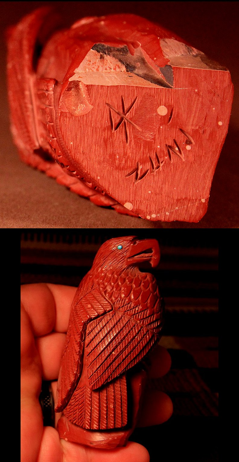 Zuni Spirits is proud to represent a variety of Zuni fetish carvers, including Derrick Kaamasee!