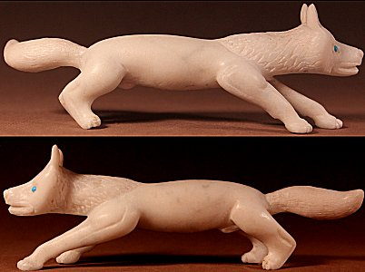 Dan Quam | White Marble | Fox  | Price: $850. +  $17.75  domestic shipping | Texas sales tax applies to Texas Residents! | CLICK  IMAGE for more views & information. | Authentic Zuni fetishes direct from Zuni Pueblo to YOU from Zunispirits.com!