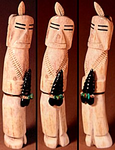 Robert Weahkee | Antler | Priest  | Price: $300. +  $12.50  domestic shipping | Texas sales tax applies to Texas Residents! | CLICK  IMAGE for more views & information. | Authentic Zuni fetishes direct from Zuni Pueblo to YOU from Zunispirits.com!