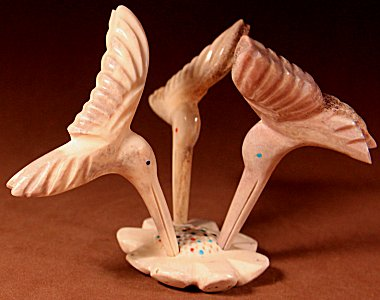 Robert Weahkee | Antler | Hummingbirds | Price: 240. +  $11.25  domestic shipping | Texas sales tax applies to Texas Residents! | CLICK  IMAGE for more views & information. | Authentic Zuni fetishes direct from Zuni Pueblo to YOU from Zunispirits.com!