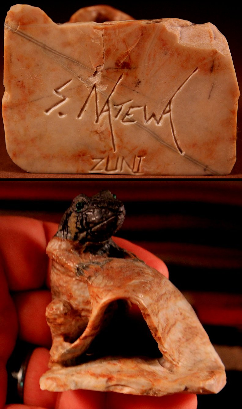 Zuni Spirits is proud to represent a variety of Zuni fetish carvers, including Staley Natewa (d.)!
