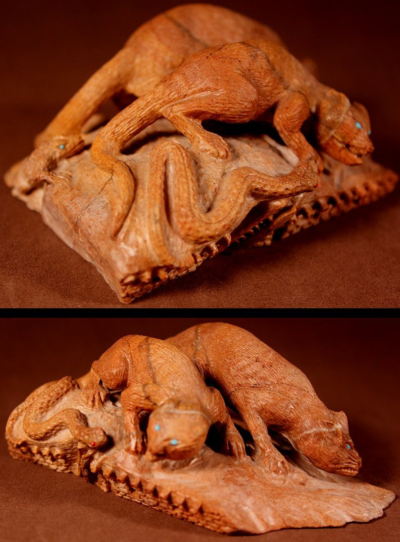 Zuni Spirits is proud to represent a variety of Zuni fetish carvers, including Staley Natewa (d.) !