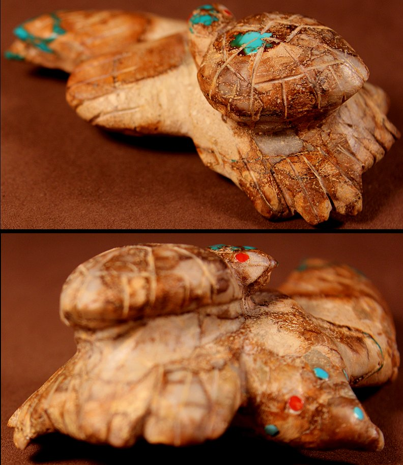 Zuni Spirits is proud to represent a variety of Zuni fetish carvers, including Lorandina Sheche!