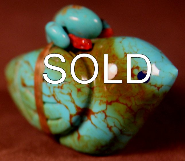 Kateri Sanchez | Turquoise | Bird |  Price: $123.00 +  $9.25  domestic shipping | Texas 6.75% sales tax applies to  Texas Residents! | CLICK  IMAGE for more views & information. | Authentic Zuni  fetishes direct from Zuni Pueblo to YOU from Zunispirits.com!
