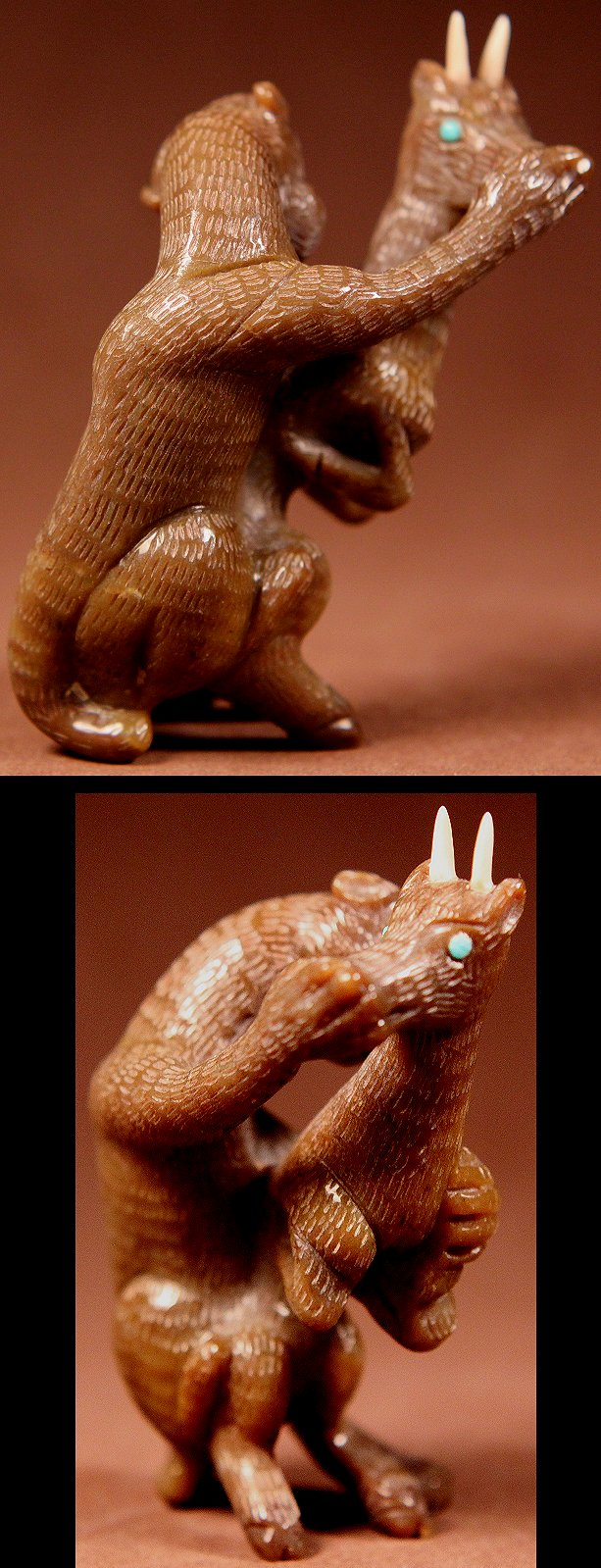 Zuni Spirits is proud to represent a variety of Zuni fetish carvers, including Fabian Cheama !