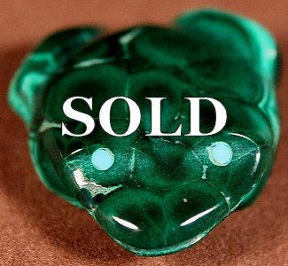 Tim Lementino |  Malachite  | Frog  | Price: $45. +  $8.50  domestic shipping | Texas sales tax applies to Texas Residents! | CLICK  IMAGE for more views & information. | Authentic Zuni fetishes direct from Zuni Pueblo to YOU from Zunispirits.com!