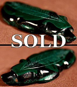 Kenny Chavez  | Malachite  | Frog  | Price: $48. +  $9.25  domestic shipping | Texas sales tax applies to Texas Residents! | CLICK  IMAGE for more views & information. | Authentic Zuni fetishes direct from Zuni Pueblo to YOU from Zunispirits.com!
