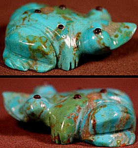 Arnie Calavaza | Turquoise | Frog  | Price: $42. +  $8.50  domestic shipping | Texas sales tax applies to Texas Residents! | CLICK  IMAGE for more views & information. | Authentic Zuni fetishes direct from Zuni Pueblo to YOU from Zunispirits.com!