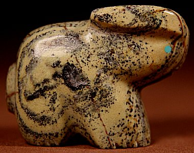 Debra Gasper & Ray Tsethlikai  | Ricolite  | Rabbit  | Price: $48. +  $8.50  domestic shipping | Texas sales tax applies to Texas Residents! | CLICK  IMAGE for more views & information. | Authentic Zuni fetishes direct from Zuni Pueblo to YOU from Zunispirits.com!