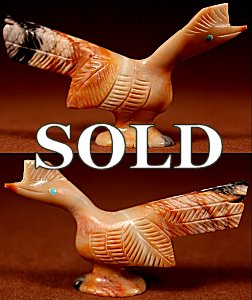 Loren Burns | Picasso Marble | Roadrunner  | Price: $54. +  $9.25  domestic shipping | Texas sales tax applies to Texas Residents! | CLICK  IMAGE for more views & information. | Authentic Zuni fetishes direct from Zuni Pueblo to YOU from Zunispirits.com!