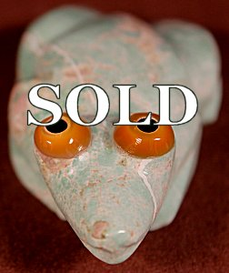 Bernard Homer Jr  | Variscite  | Frog  | Price: $72. +  $9.25  domestic shipping | Texas sales tax applies to Texas </a>Residents! | CLICK  IMAGE for more views & information. | Authentic Zuni fetishes direct from Zuni Pueblo to YOU from Zunispirits.com!
