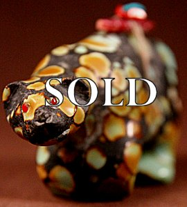 Jeff Tsalabutie | Natural Hubei Turquoise   | Mountain Lion   | Price: $1800. +  $24.00  domestic shipping | Texas sales tax applies to Texas Residents! | CLICK  IMAGE for more views & information. | Authentic Zuni fetishes direct from Zuni Pueblo to YOU from Zunispirits.com!