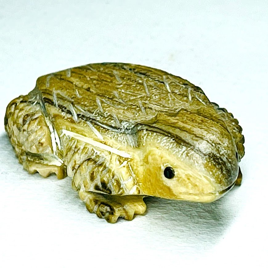 Unknown | Picasso marble | Horned Lizard (Toad) |  shipping, depending on your location | Texas sales tax applies to Texas Residents! |  CLICK  IMAGE for more views & information. | Authentic Zuni fetishes direct from Zuni Pueblo to YOU  from Zunispirits.com!