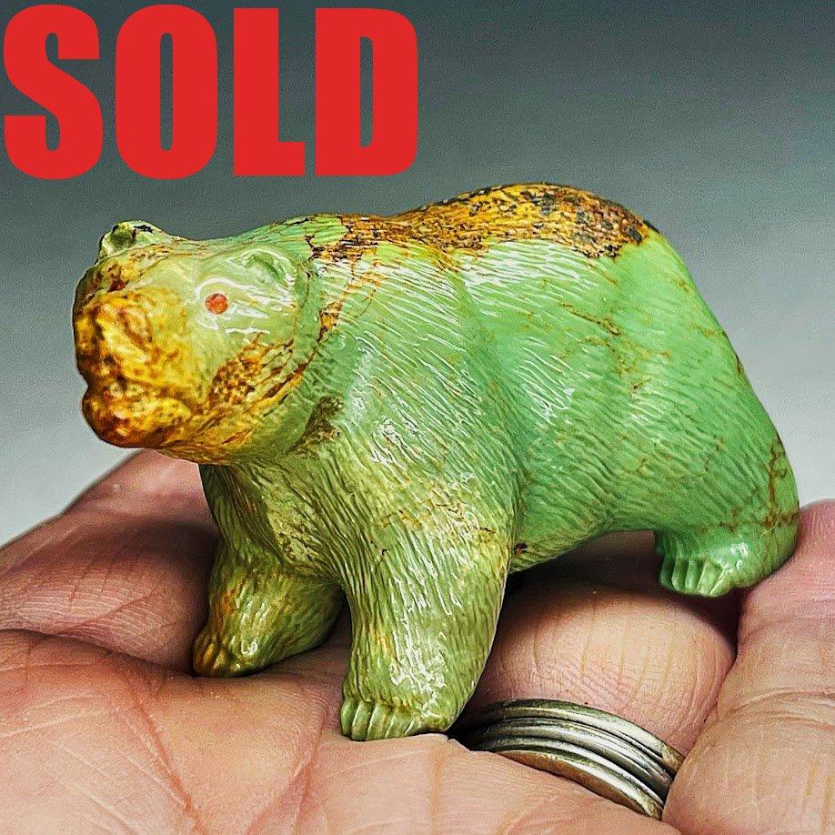 Herbert Him   Turquoise   Bear  SOLD
